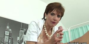 Unfaithful british mature lady sonia exposes her oversi