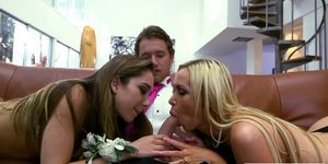 Nikki Benz and Remy LaCroix doggystyled by pervert dude