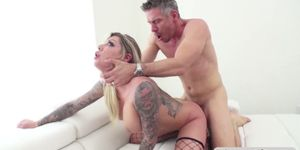 Lovely slut Karma loves getting her pussy banged and cr