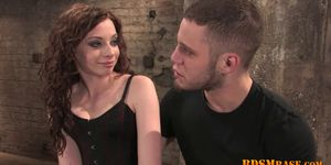 European chick gets humuliated and tortured by a horny couple in a BDSM action  669586