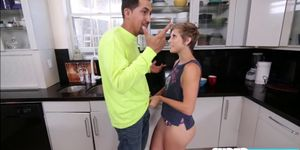 Mickey Reise gets bang in their kitchen by dudes big co