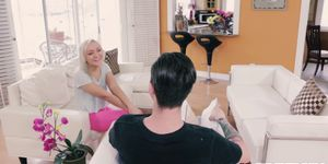Prison threesome fuck with an superb blonde chick with tiny tits Angie Koks  1070265