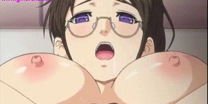 Young hentai gets creampie and wet