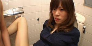 Tempting jap girl cunt nailed hard in bathroom