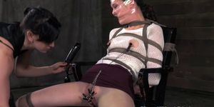 Unrelenting sadistic domina hurting sub