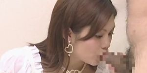 Asian preggo tasting hard cock