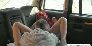 Big juggs passenger fucked and cum facialed by driver