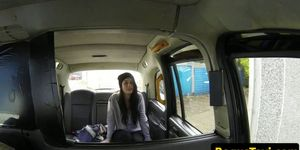 Uk babe rimming cabbie before pussyfucking