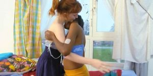 Indian and redhead teen lesbians