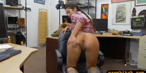 Cowgirl gets anal pounded by pawn dude at the pawnshop