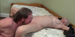 Horny mature couple having sex