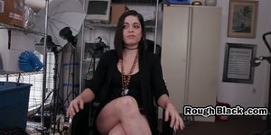 Kinky babe riding monster dick