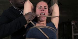 BDSM sub Cherry Doll gets tied up