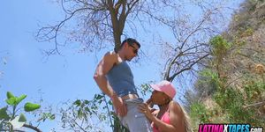 Couple films Fucking on hiking trail