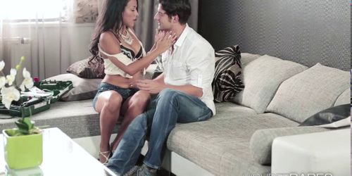 Sweet Layla pays pussy fuck for her sins with her bfs b
