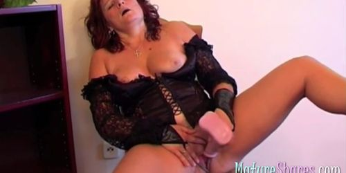 Horny Granny Toy Fucking Snatch