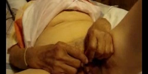 Old granny sucks big old cock from her husband in bedro