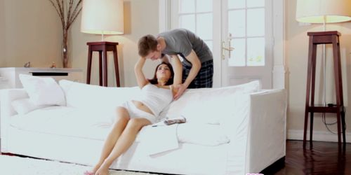 Sensual couple steaming afternoon delight