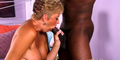 Horny granny showing her skills