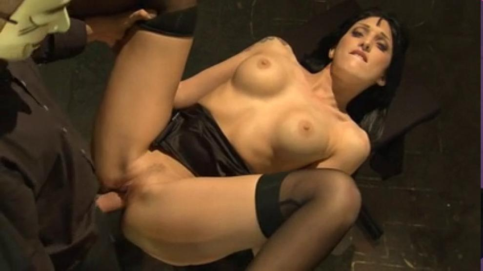 Horny German brunette Paula Rowe gets creampied by an Anonymous