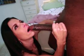 Interracial slut blowjob and fuck
