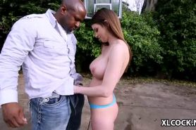 Brooklyn Chase enjoys big black cock