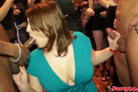 Party euro amateurs blows two dudes