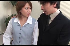 Hot Asian office babe taken by force and gangbanged at