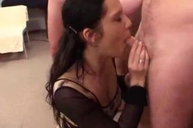 Cute German Brunette Gangbanged