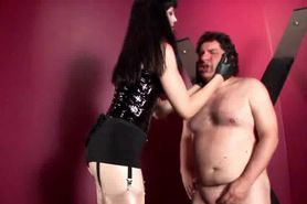 Cock torture and hardcore BDSM spanking