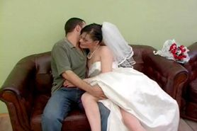 Russian couple fucking on a couch