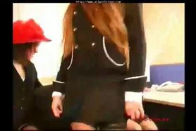 3 Italian Office Ladies Lick, Finger & Dildoing 1 O