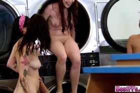 Best friends gets fucked hard in the laundry shop