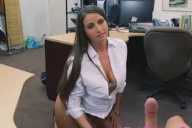 Brunette Thief Gets Pussy Inspected By Pervert Pawnbrok