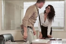 Hottie office secretary Alexas pussy fuck with her love
