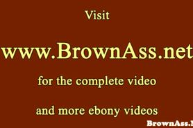 Brown booty nubian bouncing on hard cock