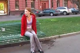 Piss-Ludmila Wet Her Pant In Public