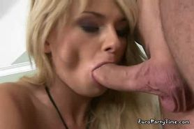 Blonde Gets A Cock On Either End