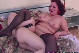 Mature chubby slut cummed on