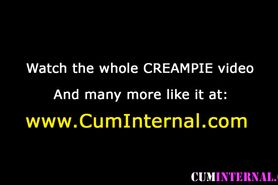 Asian creampie slut anal