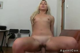 Fake agent with huge dick fucks blonde amateur