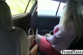 Hot ass amateur blonde babe pussy fucked for free taxi
