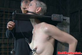 Nipple penalised submissive punished hard
