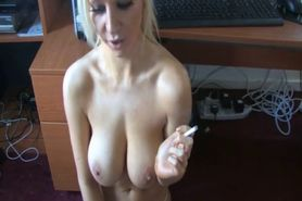 Smoking hand job