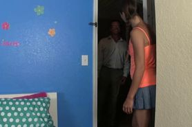 Flexible petite teen fucked by an old teacher