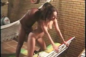 hot brazilian girl gets a hot cum on her ass