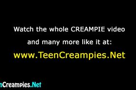 Teens twat gets creampied