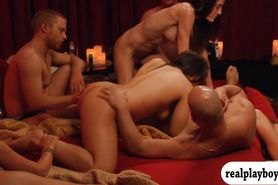 Swingers swap partners and enjoyed orgy in Swing mansio