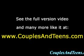Teen eats out and fingers wife