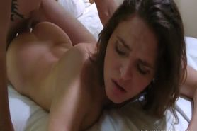 Busty amateur girl drilled real good in a hotel room
